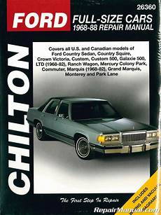 free download parts manuals 1984 ford ltd parking system chilton ford full size 1968 1988 cars repair manual