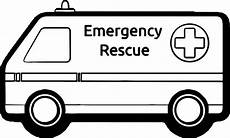 coloring pages of emergency vehicles 16464 ambulance emergency rescue car coloring page wecoloringpage