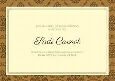 wedding reception card templates free card maker create custom designs canva