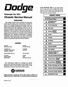 service manuals schematics 2012 dodge challenger free book repair manuals 1972 dodge challenger dart charger coronet service manual
