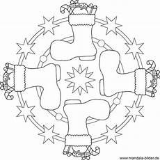 weihnachtsstiefel mandala vorlage zum ausdrucken