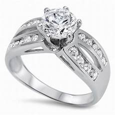 promise wedding engagement ring sterling silver 2 60ct