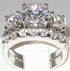 5 1 ct bold past present future cz bridal engagement wedding ring size 5 ebay