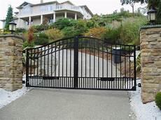 swing gate swing driveway gate modern entry vancouver