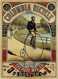 the pope mfg co columbia bicycle vintage bicycle advertisement poster