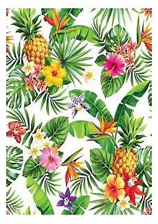 Tropical Flower Wallpaper Hd by Tropical Flower Pineapple Wallpaper A4 Sized Edible Wafer
