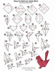 wren bird origami the wren design