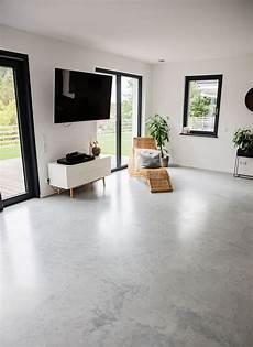 wohnzimmer sichtestrich betonboden designboden