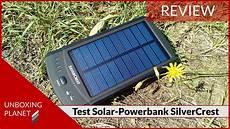 test solar powerbank silvercrest sls2200c2 powerbank mit