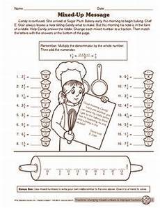 grade 4 fractions worksheet converting improper fractions to mixed numbers for the