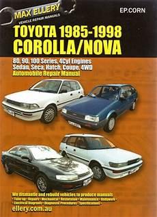 online service manuals 1998 toyota corolla electronic valve timing toyota corolla 1985 1998 repair manual new sagin workshop car manuals repair books information