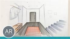 Fluchtpunkt Zeichnen Zimmer - raum studien r 228 ume zeichnen raum skizzen