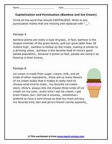 capitalization and punctuation editing worksheets 20756 capitalization and punctuation worksheets homeschooldressage