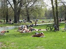 englischer garten fkk sun bathing in a park only in germany