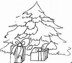 malvorlage tannenbaum mit tannenbaum mit geschenken ausmalbild malvorlage