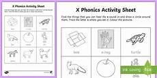 x phonics worksheet worksheet republic of ireland phonics resources