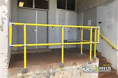 steel pipe and plastic handrail ideal shield