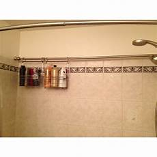 bathroom caddy ideas shaped bathroom showers idea for storage in an shaped bath shower i think i did