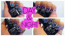 color changing gel polish city skyline day and night nail