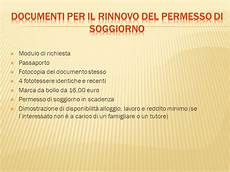 rinnovo permesso di soggiorno documenti informazioni sull ingresso in italia ppt scaricare