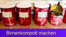 birnen einkochen rotes birnenkompott selber machen