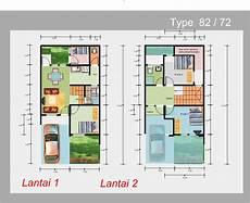 7 Denah Rumah Minimalis 2 Lantai