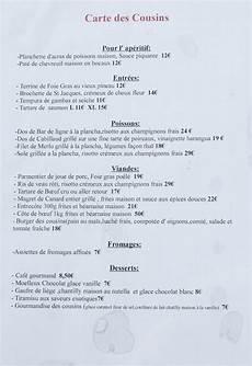 menu traditionnel français file restaurant l atelier des cousins carte 2013 1 jpg