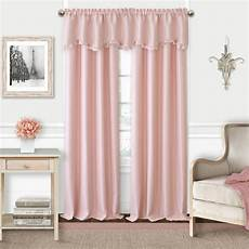 elrene adaline soft pink polyester single blackout window curtain panel 52 in w 84 in l