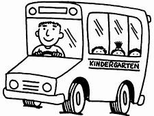Kindergarten Bus Driver Coloring Pages  Best Place To Color