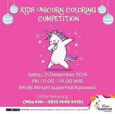 kompetisi mewarnai anak unicorn di supermal karawaci