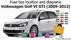 2013 vw golf r fuse diagram fuse box location and diagrams volkswagen golf vi gti 2009 2013