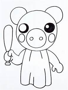 coloring pages roblox piggy adopt me and others print