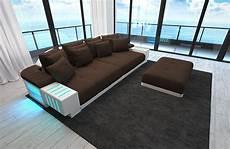 sofa mit led sofa bellagio als modernes bigsofa mit led licht kaufen