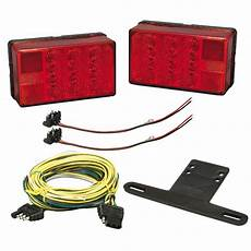 wesbar 4 quot 6 quot 4x6 led trailer tail lights light kit with wiring harness cable ebay