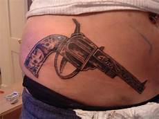 71 stylish gun tattoos for waist