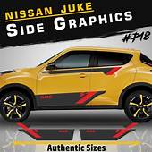 Nissan Juke Side Racing Stripes Car Stickers Decal Tuning