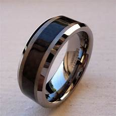 black band wedding rings black tungsten wedding bands pick inspiration and ideas