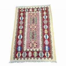 petit tapis kilim et blanc c35