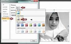 Belajar Word Cara Merubah Gambar Berwarna Menjadi Hitam