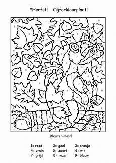 Herbst Ausmalbilder Kindergarten Herbst Malen Nach Zahlen Mnz Herfst Activiteiten