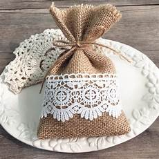 burlap and lace wedding favors rustic diy gift bags ewfb068 as low as 1 65