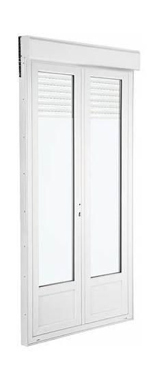 Porte Fen 202 Tre Pvc Blanc 2 Vantaux Larg 120 X Haut 215 Cm