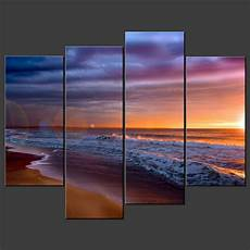 Kunstdrucke Auf Keilrahmen - sunset blue split canvas wall pictures prints