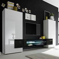 ensemble meuble salon pas cher ensemble meubles tv blanc et noir laqu 233 brillant argos 3