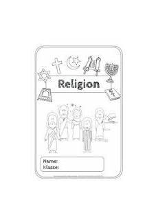 Malvorlagen Religion Grundschule Deckblatt F 252 R Den Religionshefter Unterrichtsmaterial In