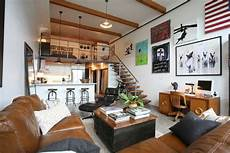 vancouver industrial loft apartments living room