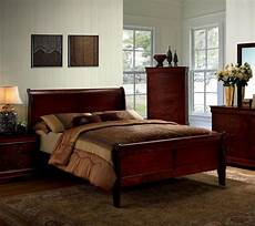 1pc elegant design cherry finish full size panel bed bedroom furniture 1piece ebay