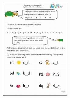 consonants and vowels