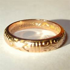 rose gold ring 14k wedding band germany 1921 tag sale item sold ruby
