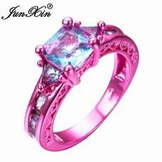 junxin fashion s light blue geometric ring